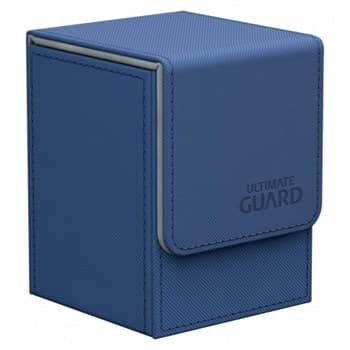 Кожаная коробочка для карт Blue