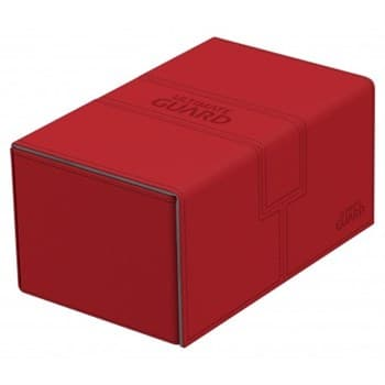 Кожаная коробочка для карт Red