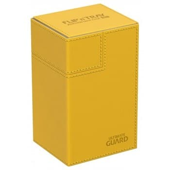 Янтарная кожаная коробочка с отделением для кубиков