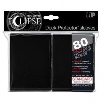 Ultra-Pro Matte Eclipse - Черные матовые протекторы (80 штук)