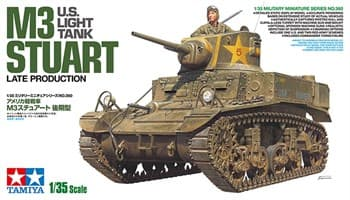 Американский легкий танк M3 STUART, late production, с фигурой командира.