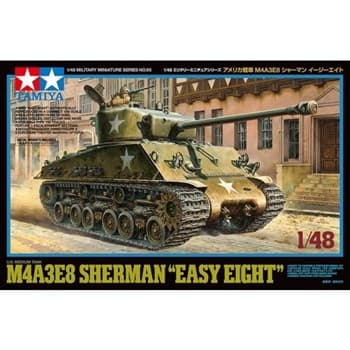 "1/48 американский танк US MEDIUM TANK M4A3E8 SHERMAN ""Easy Eight"", с фигурой командира."