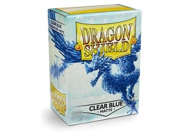 Dragon Shield Sleeves: Matte Clear Blue