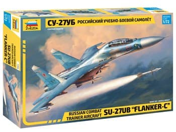 Самолёт  Российский учебно-боевой самолет Су-27УБ  (1:72)