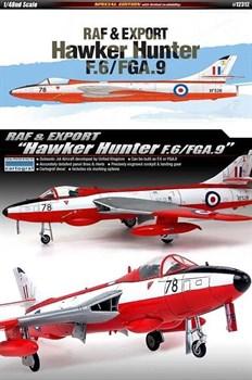 Сборная модель Raf & Export Hawker Hunter F.6/Fga.9  (1:48) Academy