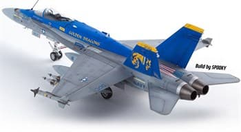 "Самолет  USN F/A-18C ""VFA-192 Golden Dragons""  (1:72)"