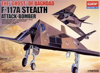 """Самолет  F-117a Stealth Attack Bomber The """"Ghost"""" Of Baghdad  (1:72)"""