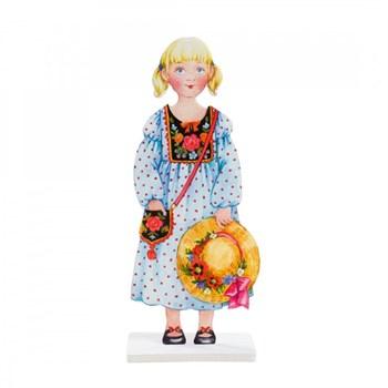 """Игровой набор для девочек из  картона: (наряжай - и играй). Кукла """"Василиса"""""""