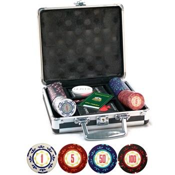 """""""Casino Royale  100"""" Профессиональный набор для игры в покер.100 фишек по 14 грамм, 2 колоды карт."""