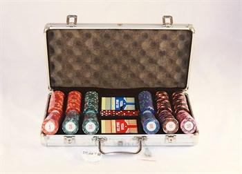 """""""Casino Royale Premium 300"""" Профессиональный набор для игры в покер.300 фишек по 14 грамм, 2 колоды карт."""