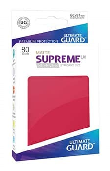 Supreme Sleeves Standard Size Matte Red (UX)