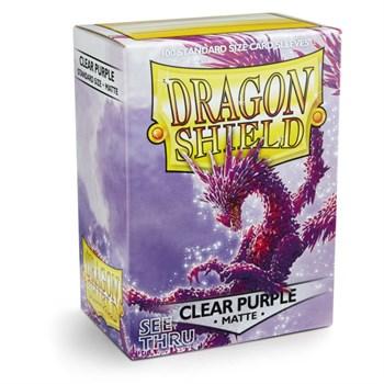 Протекторы Dragon Shield прозрачные матовые пурпурные - See Thru (100 шт.)