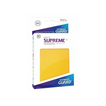 Supreme Sleeves Standard Size Matte Yellow (UX)