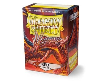 Dragon Shield - Красные матовые протекторы 100 ук