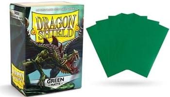 Dragon Shield - Зеленые матовые протекторы 100 ук