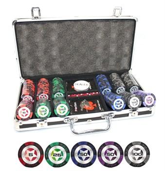 """""""STARS 300 Ultra"""" Профессиональный набор для покера на 300 фишек по 14 грамм."""