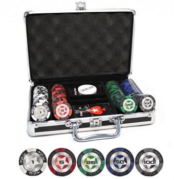 """""""STARS 200 Ultra"""" Профессиональный набор для покера на 200 фишек по 14 грамм."""