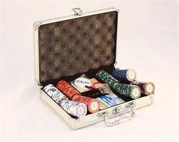 """""""Casino Royale Premium 200"""" Профессиональный набор для игры в покер.200 фишек по 14 грамм, 2 колоды карт."""
