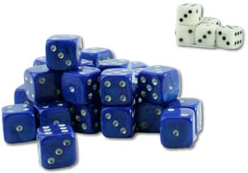 Tool: Wargaming Dice: Blue+White(30+6)