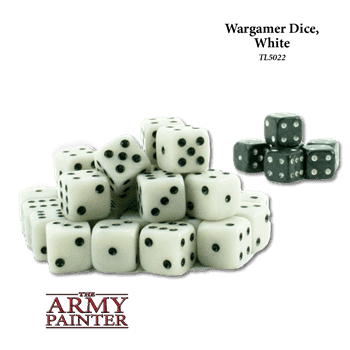 Tool: Wargaming Dice: White+Black(30+6)