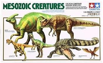 1/35 Mesozoic Creatures 6 фигур (Детеныши Parasaurolohus и Tyrannosaurus, Oviraptor, Hypsilophodon, крокодил и птица Archaeopteryx)
