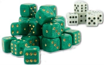 Tool: Wargaming Dice: Green+White(30+6)