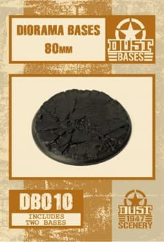 80mm DIORAMA BASES - CRACKED GROUND
