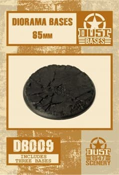 65mm DIORAMA BASES - CRACKED GROUND