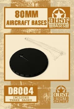 80mm BLACK AIRCRAFT BASES - SMOOTH SURFACE