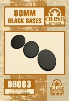 80mm BLACK BASES - SMOOTH SURFACE