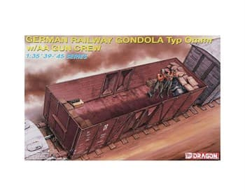 Ж/Д Вагон German Railway Gondola Typ Ommr W/Aa Gun Crew  (1:35)