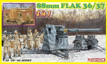 Сборная модель 88mm Flak 36/37 (2 In 1)  (1:35) Dragon