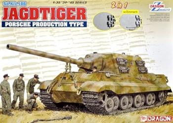Сборная модель Сау Sd.Kfz.186 Jagdtiger Porsche Production Type (2 In 1)  (1:35) Dragon