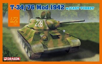 Танк T-34/76 Mod.1942 w/Cast Turret  (1:72)