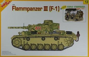 Танк FLAMMPANZER III (F-1) + bonus German Sturmpionier (Kursk 1943)  (1:35)