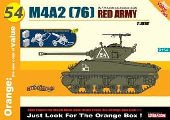 M4a2 (76) Red Army W/ Maxim Machine Gun  (1:35)