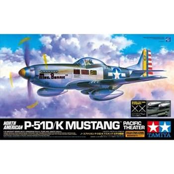 1/32 P-51D/K Mustang - Pacific Theater с набором фототравления, 2 фигурами пилотов и подставкой