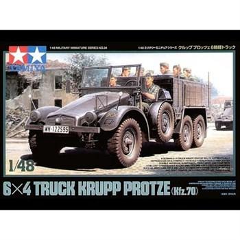 1/48 Машина 6х4 Krupp Protze (Kfz.70), металлич.шасси,8 фигур, 3 вар-та декалей.