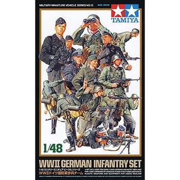 1/48 Нем.пехотинцы и пулеметчики (10 фигур) и 5 танкистов.