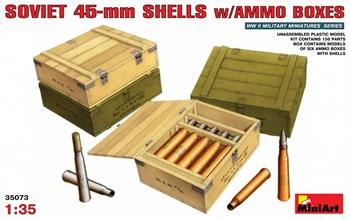 Аксессуары  Soviet 45-Mm Shells W/Ammo Boxes  (1:35)