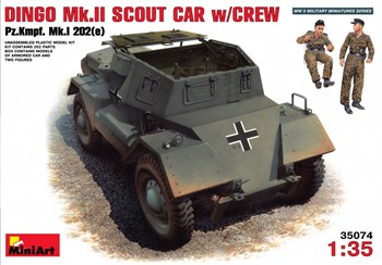 Бронеавтомобиль  Dingo Mk.Ii Scout Car W/Crew Pz.Kmpf. Mk.I 202(E)  (1:35)