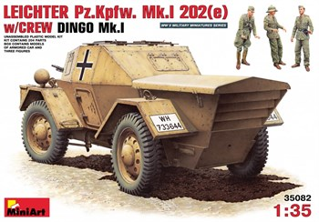 Бронеавтомобиль  Leichter Pz.Kpfw. 202(E) W/Crew Dingo Mk.I  (1:35)