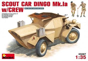 Бронеавтомобиль  Scout Car Dingo Mk.1a W/Crew  (1:35)