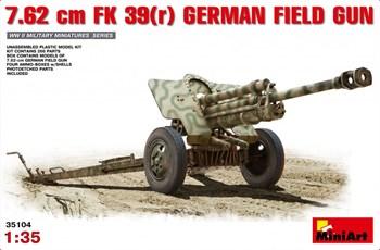 Пушка  7.62cm Fk 39(R) German Field Gun  (1:35)