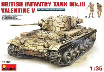 Танк  British Infantry Tank Mk.Iii Valentine V  (1:35)