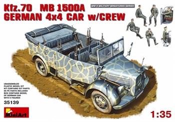 Автомобиль Kfz.70 Mb 1500a German 4×4 Car W/Crew  (1:35)