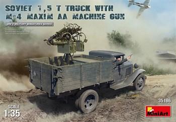 Грузовик Soviet 1,5 T. Truck W/ M-4 Maxim Aa Machine Gun  (1:35)