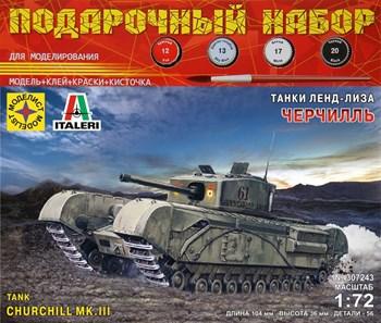 Танк Черчилль. Серия: танки ленд-лиза  (1:72)