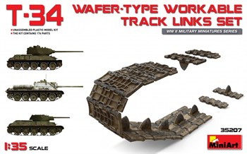 Аксессуары  T-34 Wafer-Type Workable Track Links Set  (1:35)