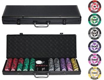"""""""STARS Old 500 """" Профессиональный набор для покера на 500 фишек"""